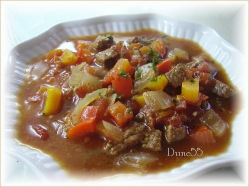 Soupe aux poivrons, tomates et boeuf Pict9310