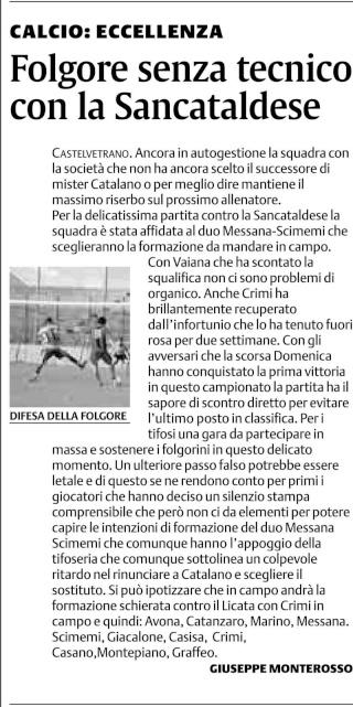 Campionato 8° giornata: Folgore Selinunte - Sancataldese 1-1 223