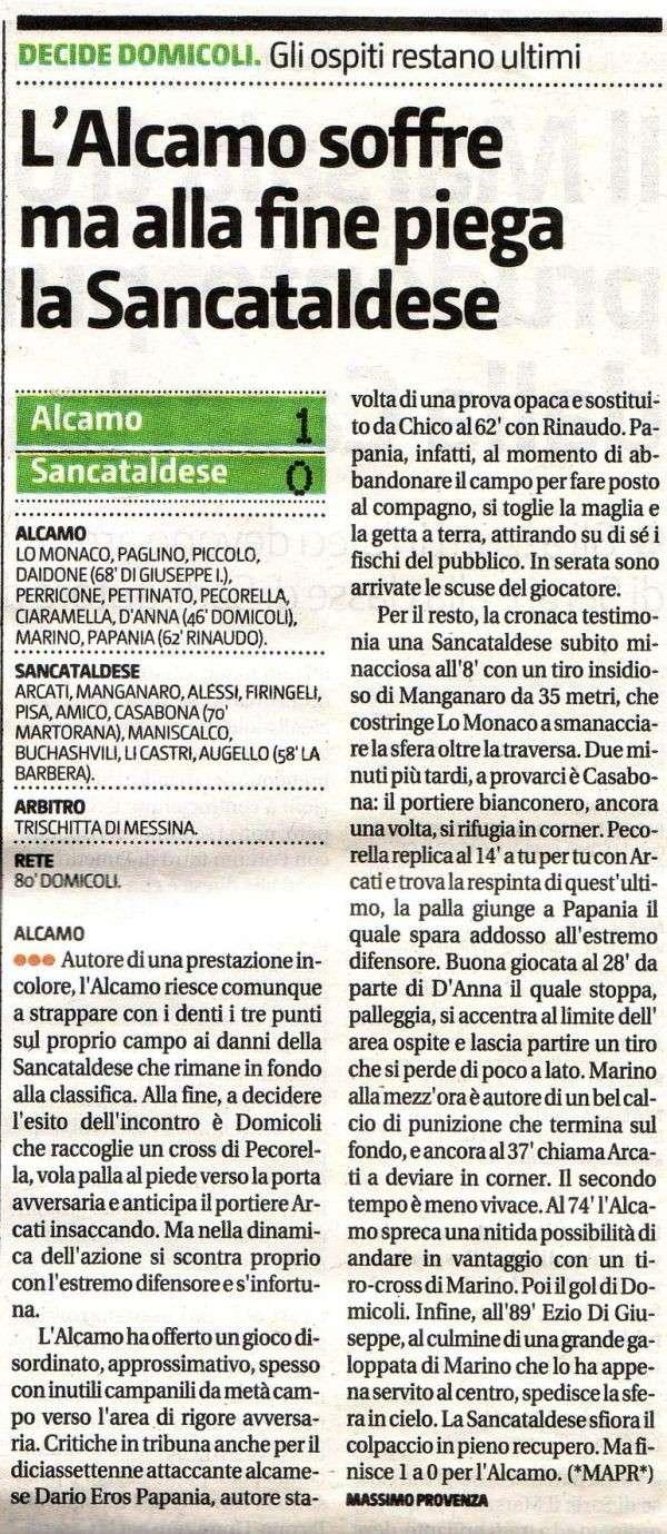 Campionato 2° giornata: Alcamo - Sancataldese 1-0 Alcamo12
