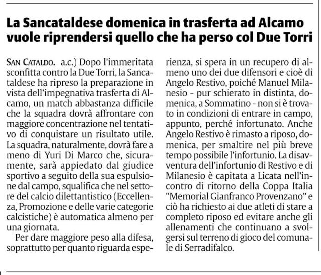 Campionato 2° giornata: Alcamo - Sancataldese 1-0 Cnsc1511
