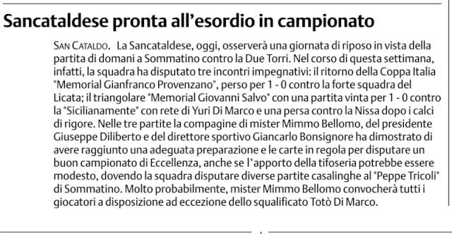 Campionato 1° giornata: Sancataldese - Due Torri 0-1 Cnsc20