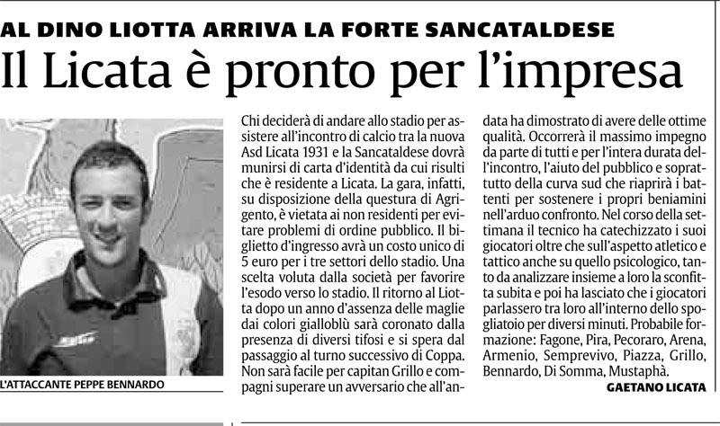 1° turno Coppa Italia ritorno: Licata - Sancataldese 1-0 Cnsc214