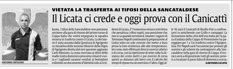 1° turno Coppa Italia ritorno: Licata - Sancataldese 1-0 Cnscag10