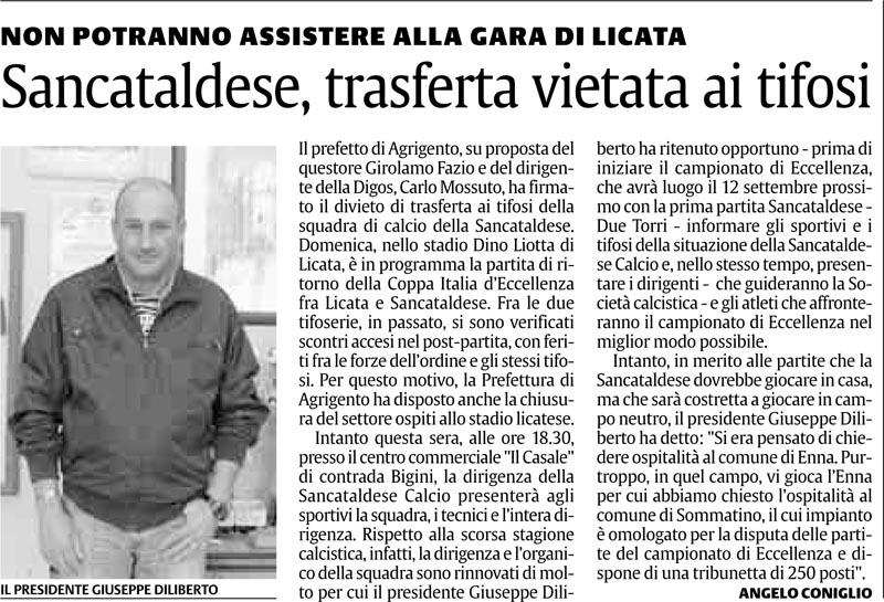 1° turno Coppa Italia ritorno: Licata - Sancataldese 1-0 Licata10