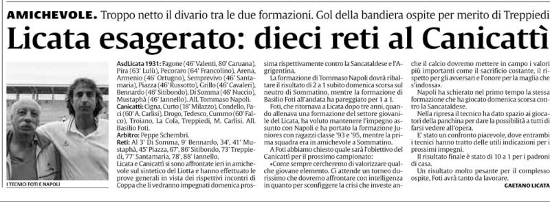 1° turno Coppa Italia ritorno: Licata - Sancataldese 1-0 Licata12