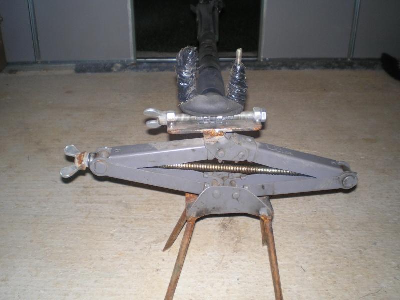 Réglage carabine Support de tir chevalet fait maison 0 euro P9230013