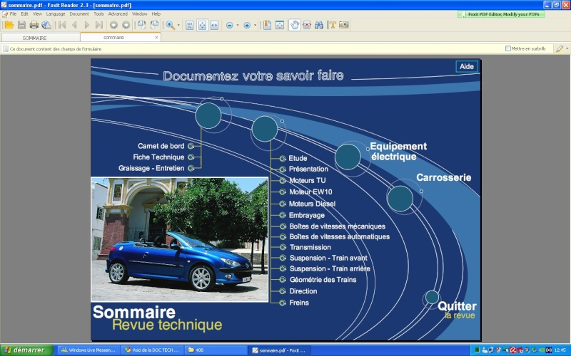 DOCUMENTATION TECHNIQUE  PEUGEOT 206  Nouvea14