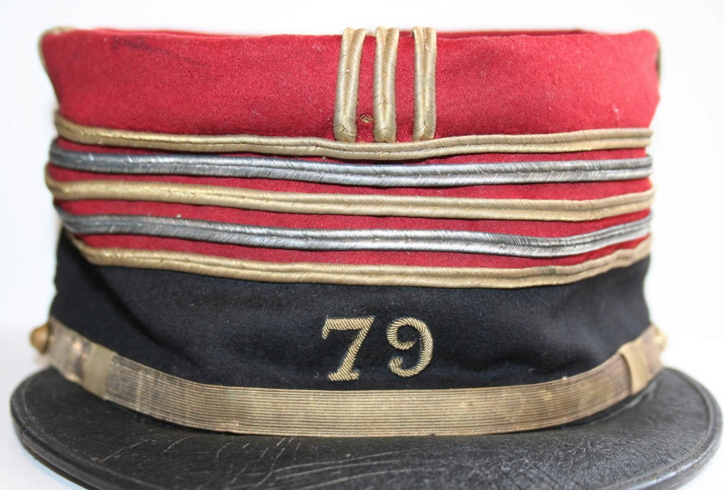 képi foulard Lieutenant Colonel 79 RI Nancy 110