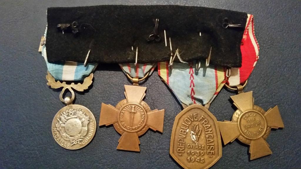 Groupe de médailles vétéran 39/45 20180921