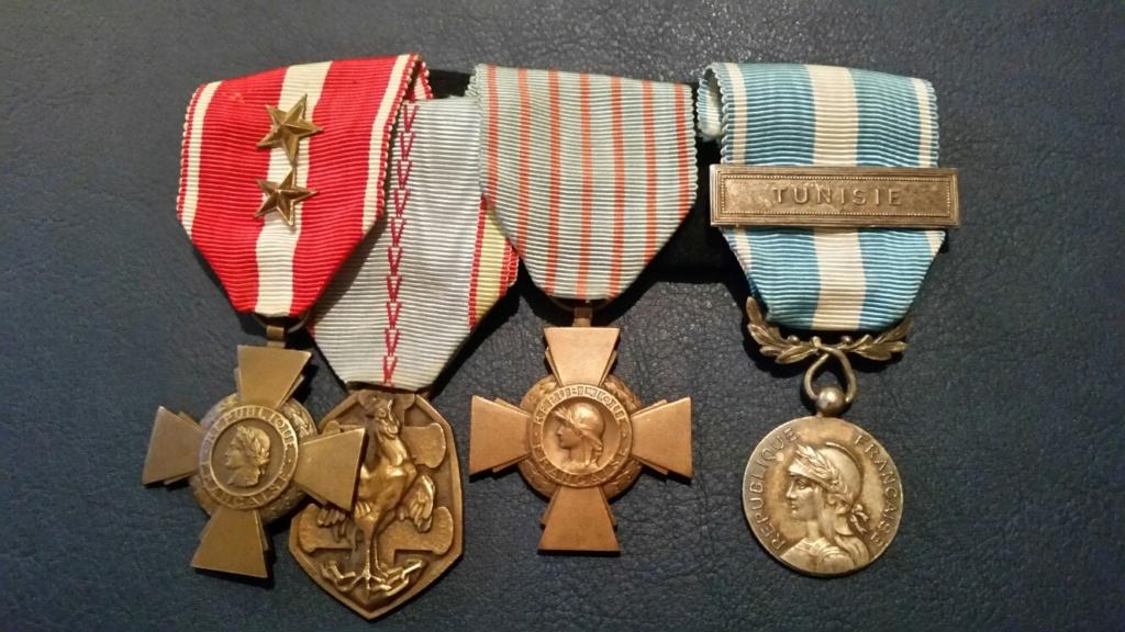 Groupe de médailles vétéran 39/45 20180922