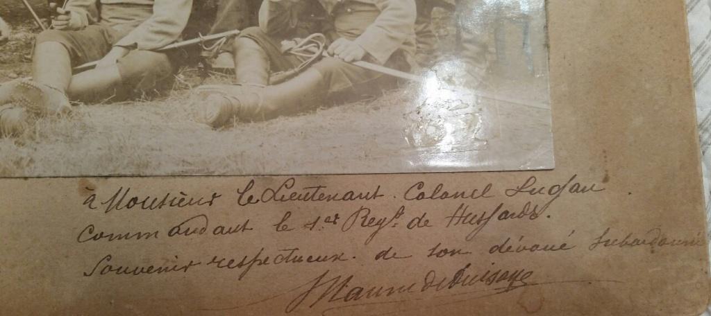 Souvenir du Lt Colonel LUGAN - 1 rgt Hussard 1902 20190719