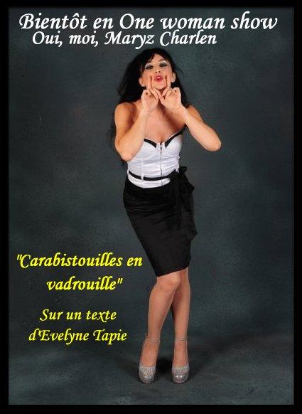 """One woman show """"Carabistouilles en vadrouille"""" Texte: Evelyne Tapie Affich10"""