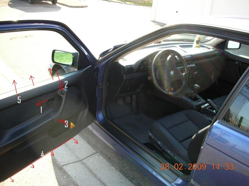[ BMW e36 compact 316 essence an 1994 ] dépose et réparation Mécanisme leve vitre  Dscn3313