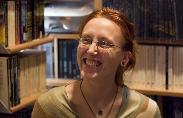 Rencontre avec Justine Niogret l'auteure de Chien du Heaume et Mordre le Bouclier édition Mnémos. Justin10
