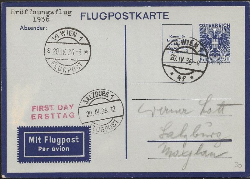 Flugpostkarten Erste Republik Scanne11