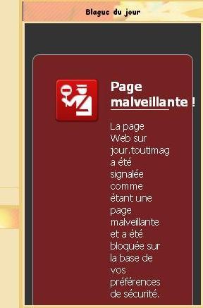 Avertissement, visiter ce site peut etre préjudiciable à votre ordinateur - QUE FAIRE ? Onglet11