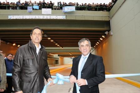 En Malvinas Argentinas se inauguro el Puente bajo nivel Juan Pablo II Scioli11