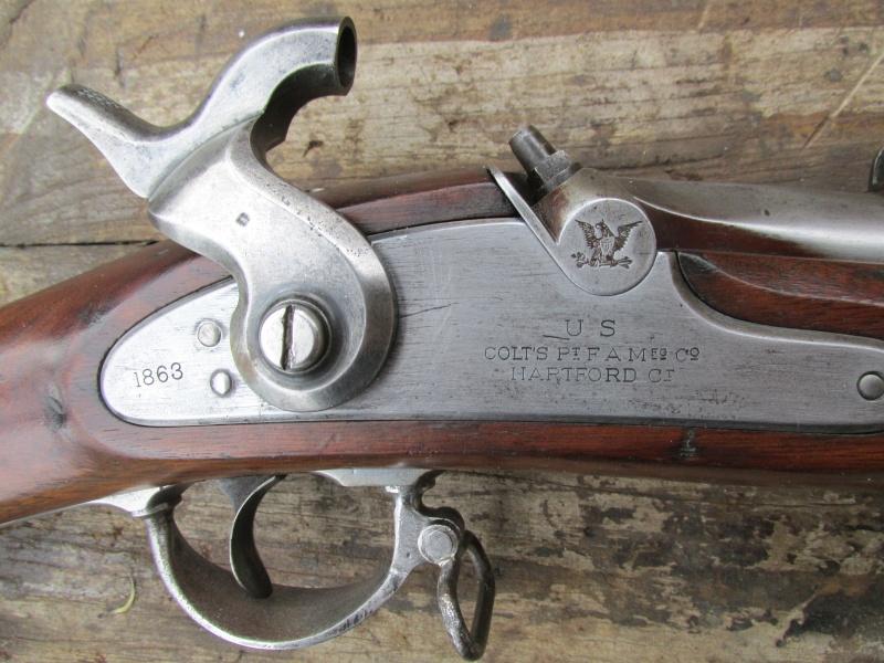 Fusil modèle 1861 Artillery Model Contrat Special fabrication Colt. Img_0911
