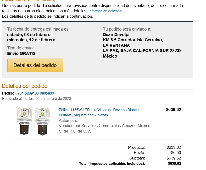amazon delivers to laventana details Pic_of10