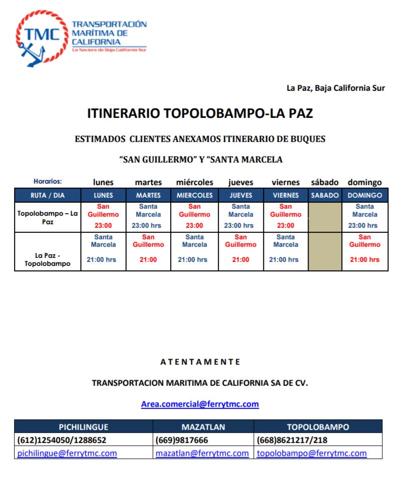 baja ferries info and TIP info Screen31