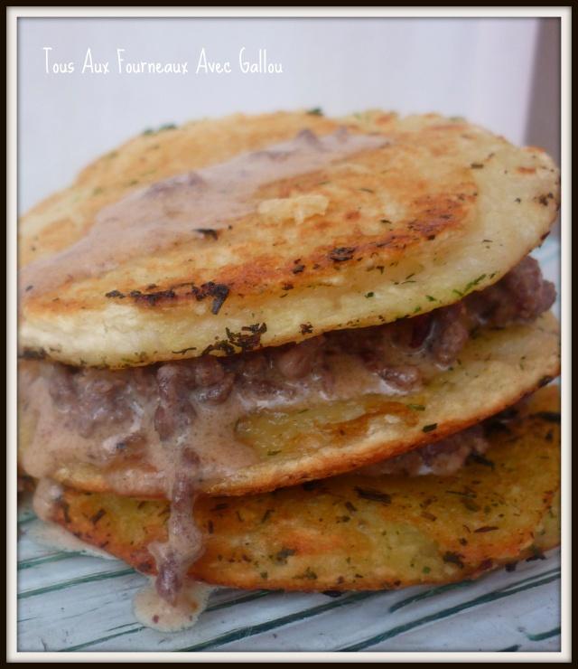 Mille Feuilles Pommes de Terre et Haché de Boeuf sauce Foie Gras Mille_10