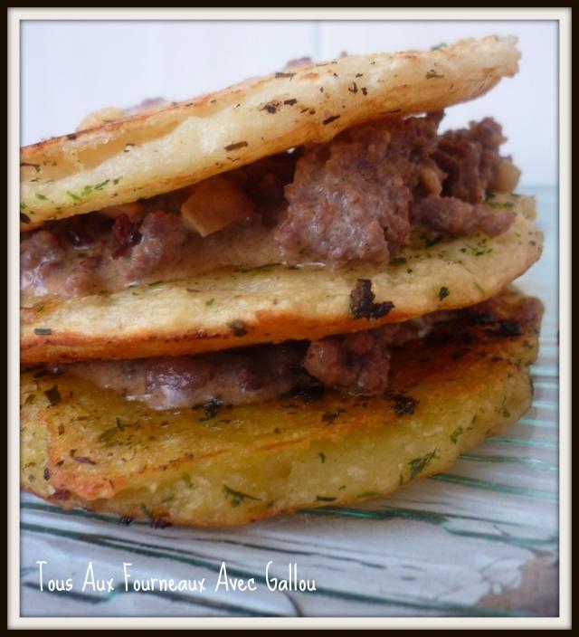 Mille Feuilles Pommes de Terre et Haché de Boeuf sauce Foie Gras Mille_11