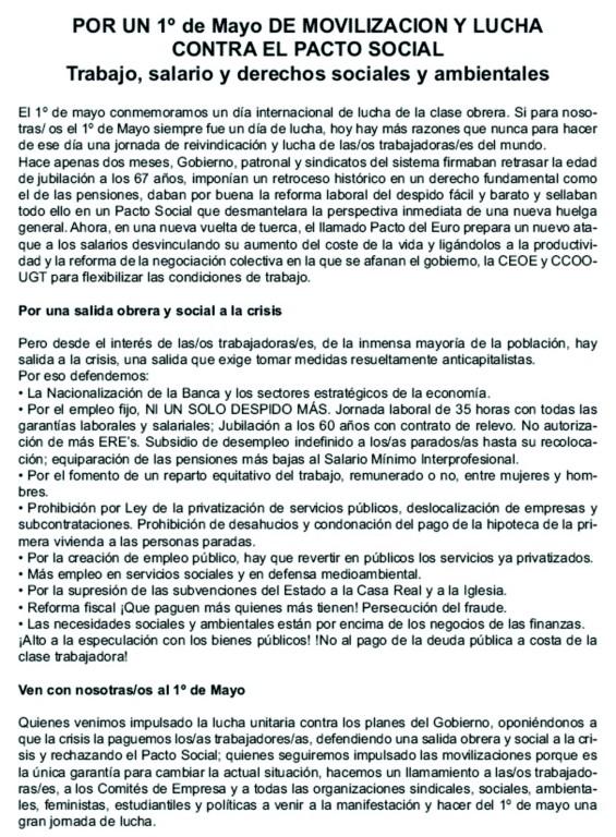 Manifestación 1º de Mayo 1110