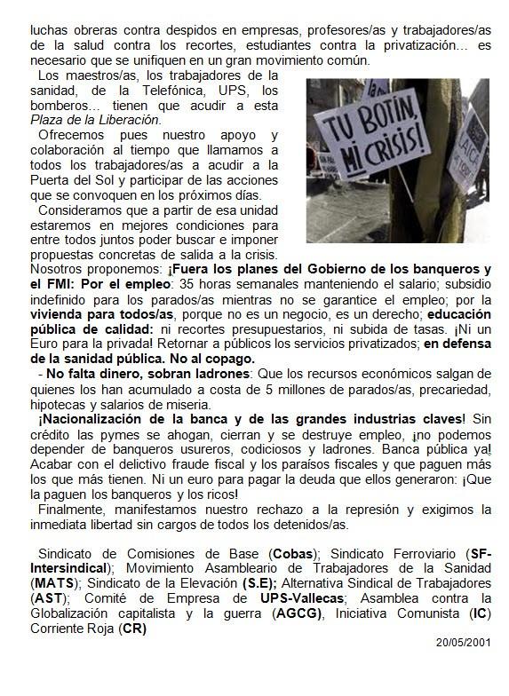 DESPIDOS UPS VALLECAS 21-05-11