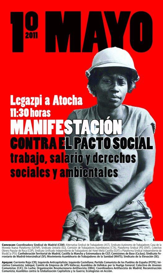 Manifestación 1º de Mayo Cartel11
