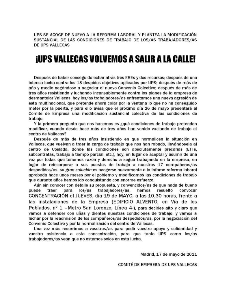DESPIDOS UPS VALLECAS Concen11