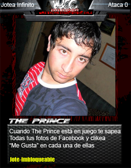 WCC TRADING CARDS Prince11