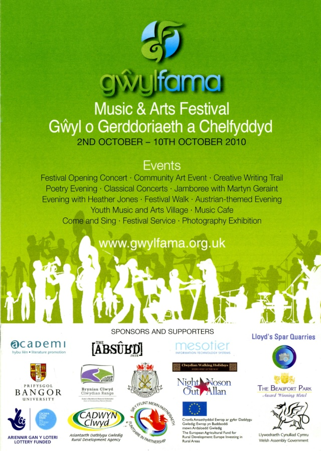 Gwyl Fama 2010 - Programme of Events Progra10