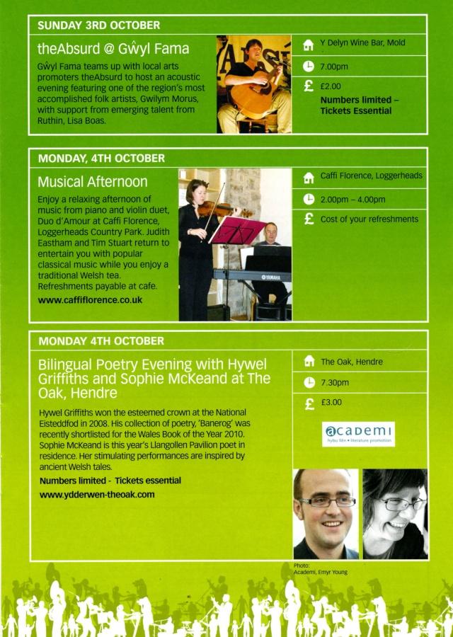 Gwyl Fama 2010 - Programme of Events Progra12