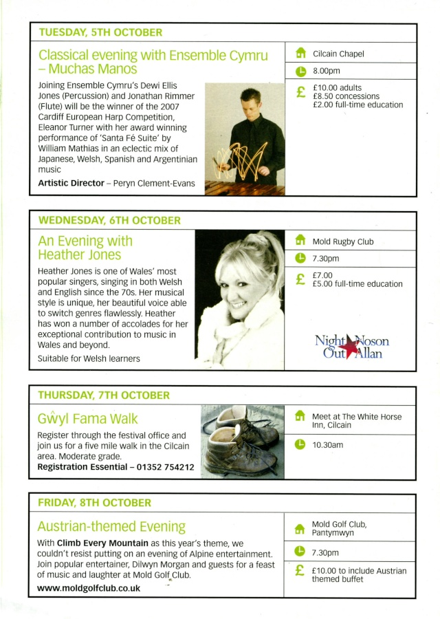 Gwyl Fama 2010 - Programme of Events Progra13