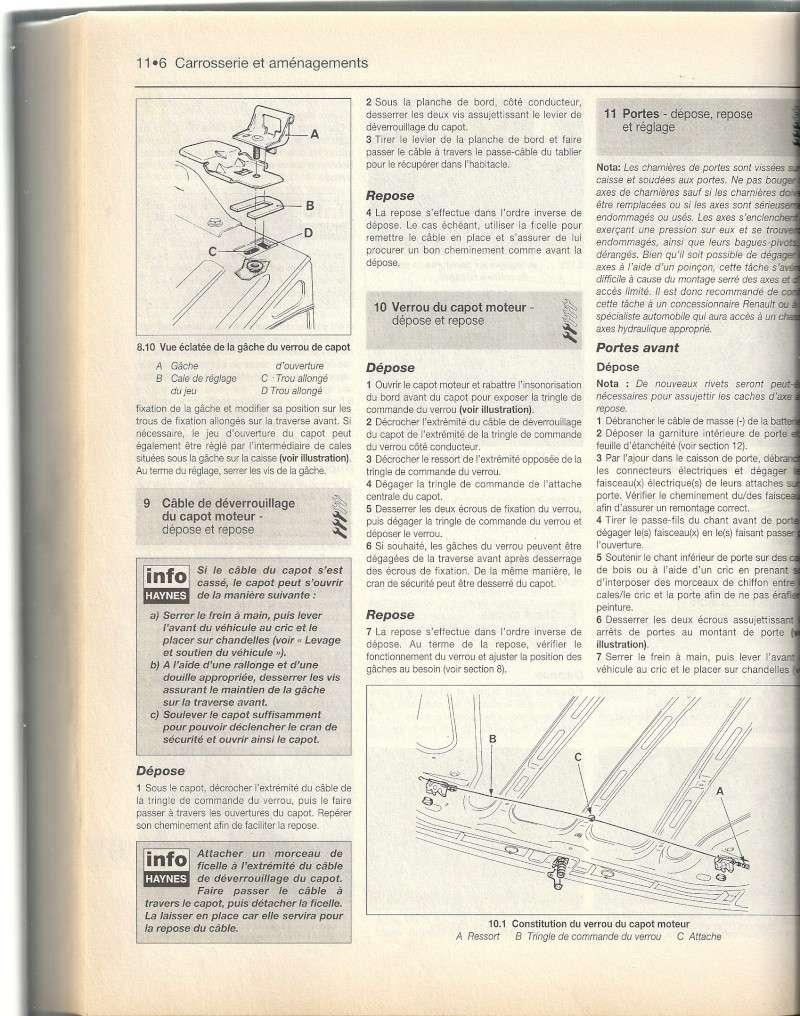 Câble ouverture capot Numari27