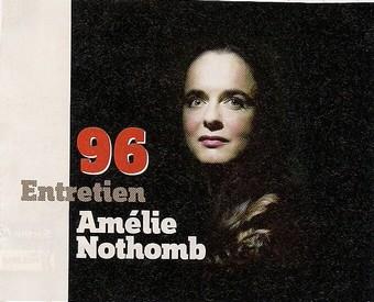 Amélie Nothomb fend(enfin) l'armure, Lire (septembre 2010) Lir110