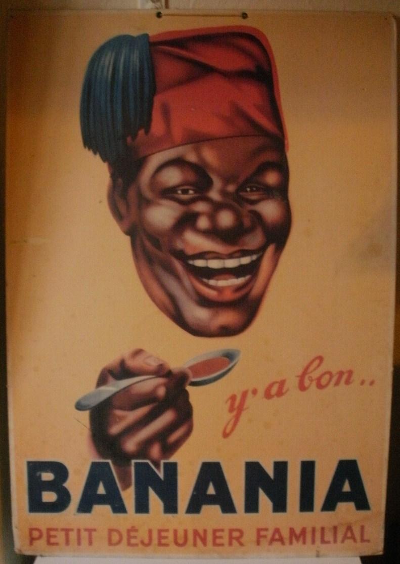 panneau en carton Banania  66/46 cms P8290113