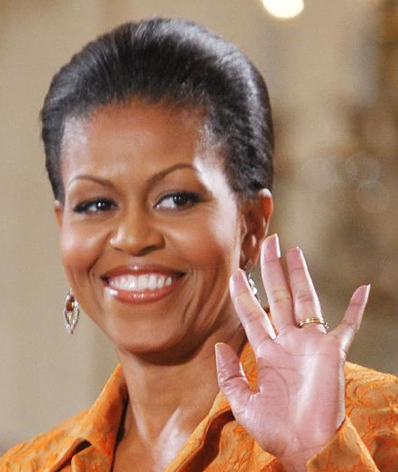 Michelle Obama - the first African-American 'First Lady' in the US Michel12