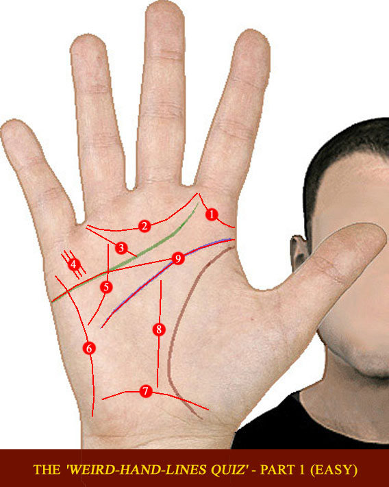The 'Weird-Hand-Lines QUIZ' - part 1 (easy) Weird-10
