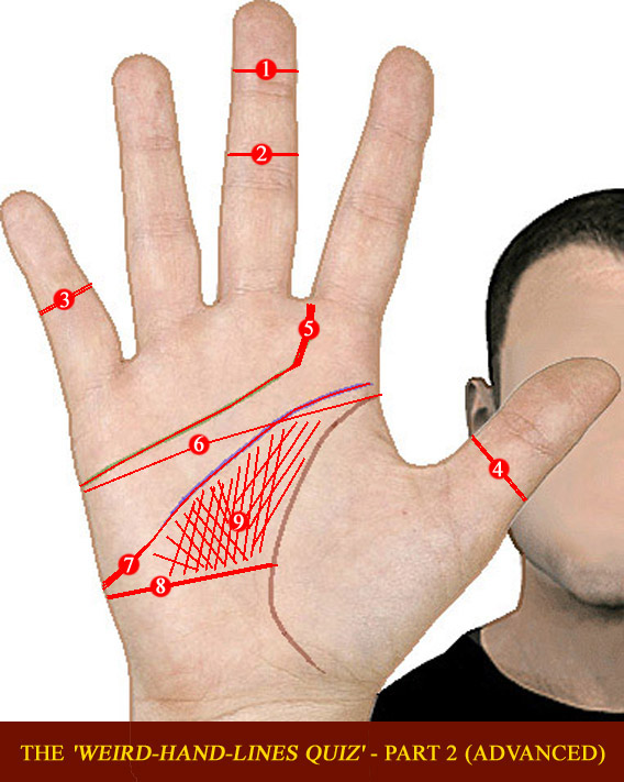 The 'Weird-Hand-Lines QUIZ' - part 2 (advanced) Weird-12
