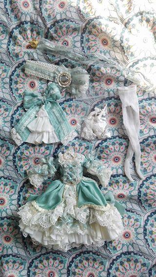 Vend Outfit Pullip BtSSB La robe vert clair 36837410