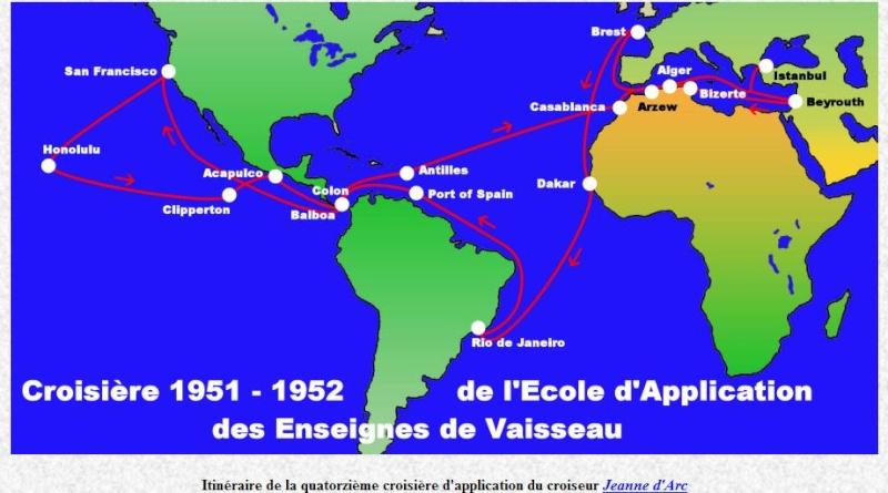 Campagne 1951-1952 du croiseur Jeanne d'Arc Jeanne10