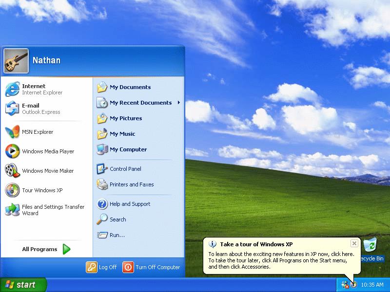 Windows XP Professional edition, with SP3 الاصدار السادس للوندوز  2215