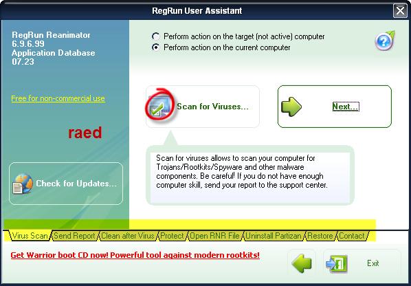RegRun Reanimator  Microsoft 6.9.6.99  لازالة أحصنة طروادة, وملفات التجسس Rr110