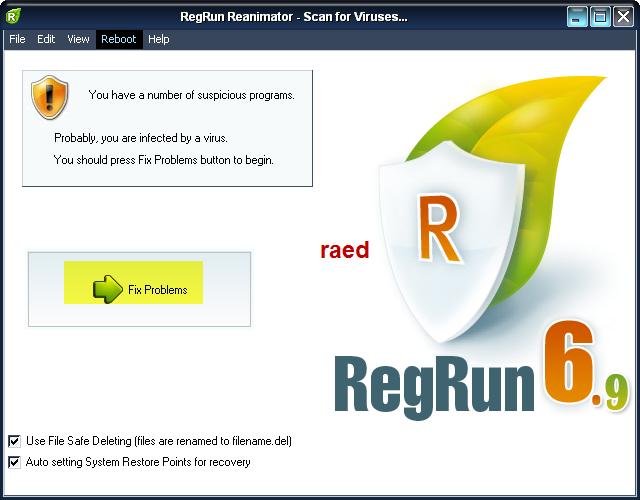 RegRun Reanimator  Microsoft 6.9.6.99  لازالة أحصنة طروادة, وملفات التجسس Rr510