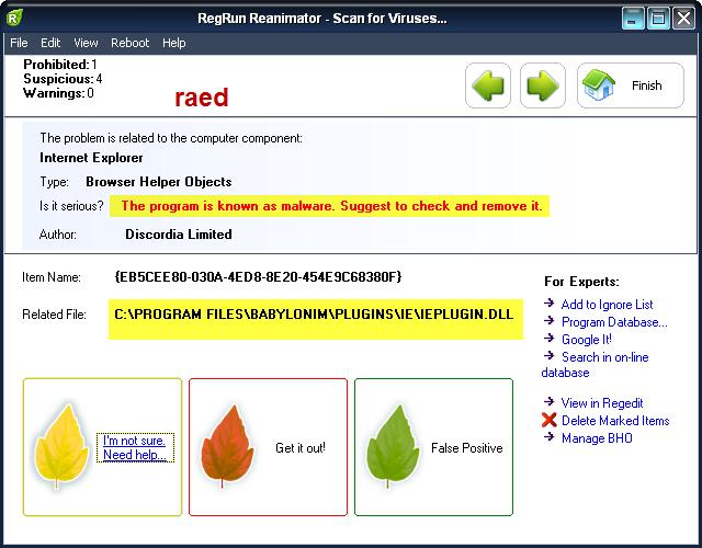 RegRun Reanimator  Microsoft 6.9.6.99  لازالة أحصنة طروادة, وملفات التجسس Rr610