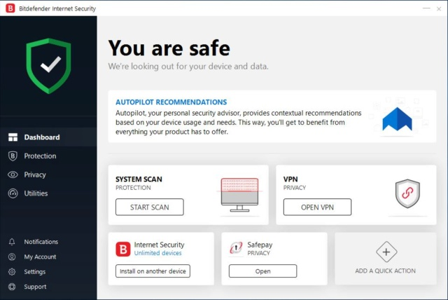 Bitdefender Internet Security 2019 - Network Threat Prevention Bitdef10