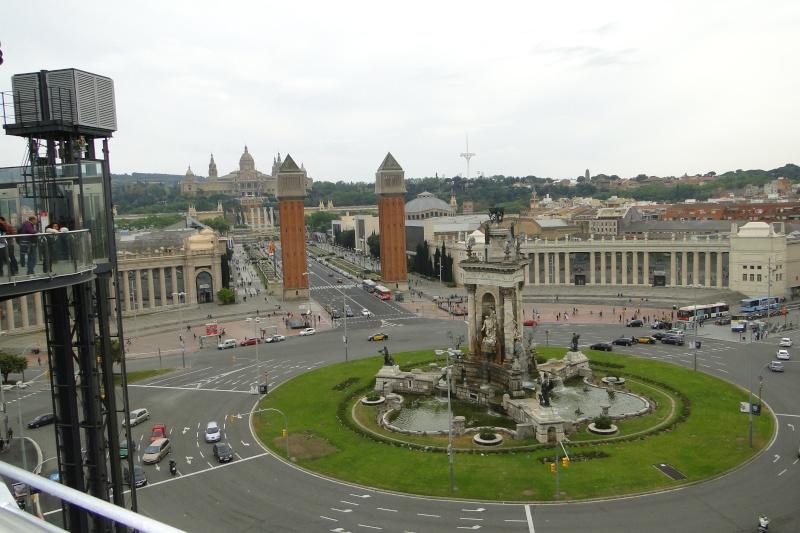 Photographie : La place d'Espagne à Barcelone vue des Arènes Dsc04010