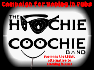 Campaign for Vaping in Pubs. Hoochie Coochie Band Logo!!!! Logoba12