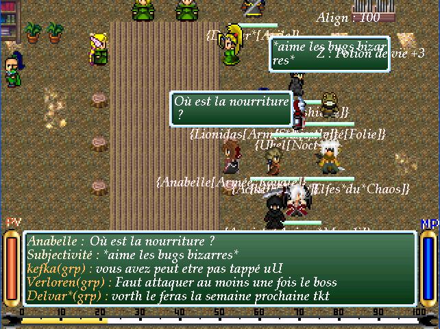 Screenshots des events Souven21